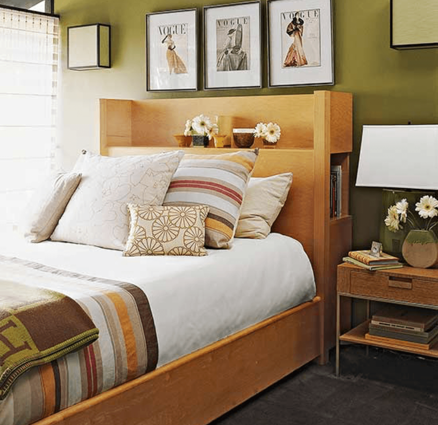 6 Perfect Paint Pairings Wooden Bed image