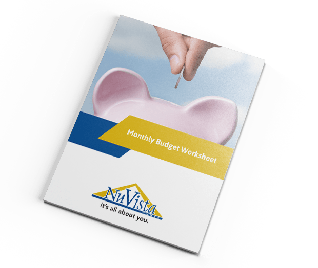 nuvista homes monthly budget worksheet cover right image