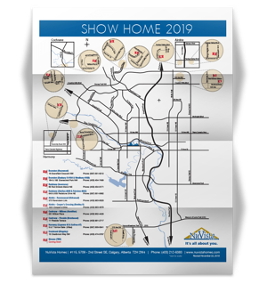 NuVista Show Home Map Image
